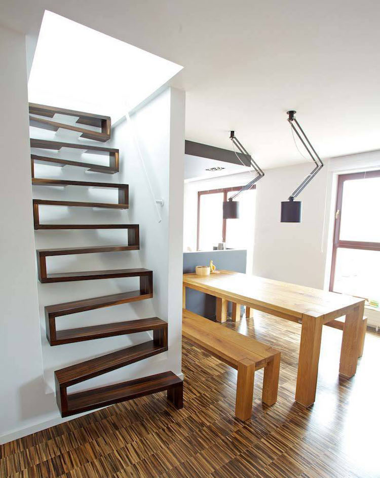 best attic storage ideas - 25 Examples of Modern Stair Design That are a Step
