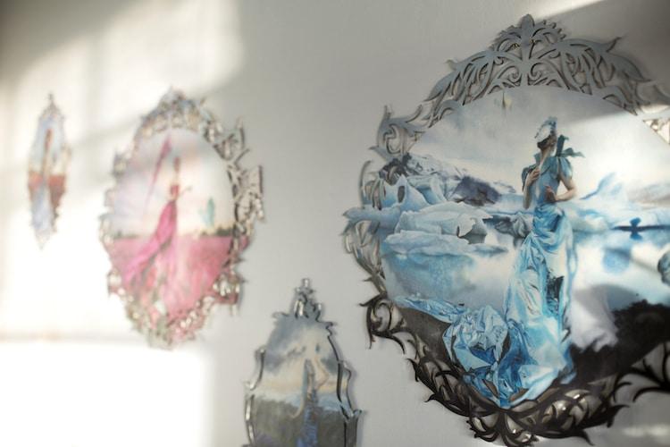 Redd Walitzki Surreal Portraits Paintings of Women Climate Change Stranger Than Earth