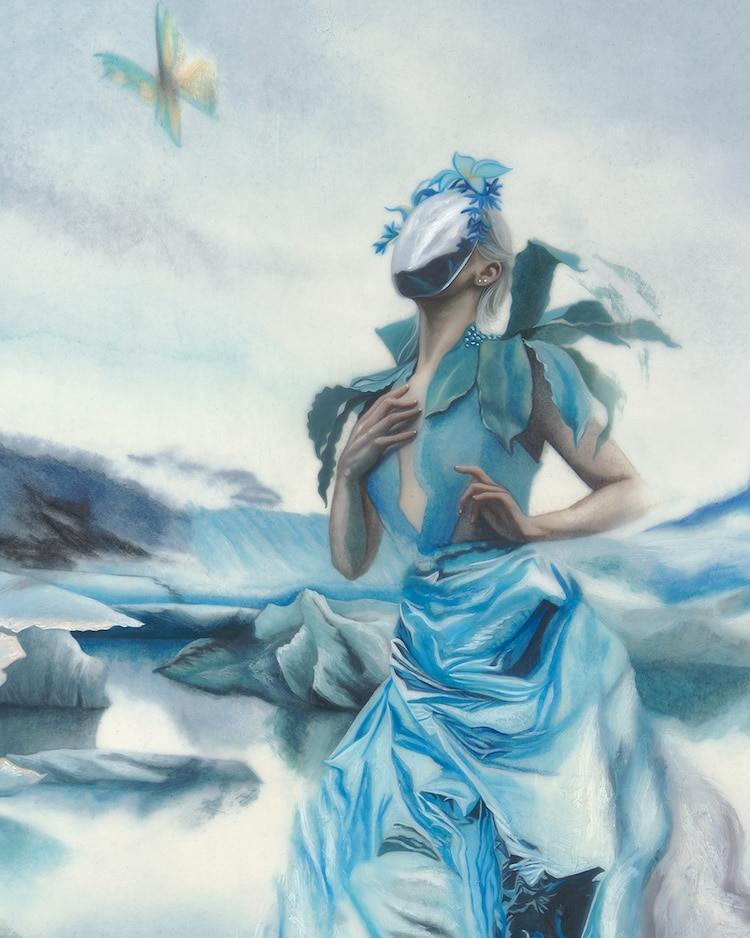 Redd Walitzki Surreal Portraits Paintings of Women Climate Change Stranger Than Earth