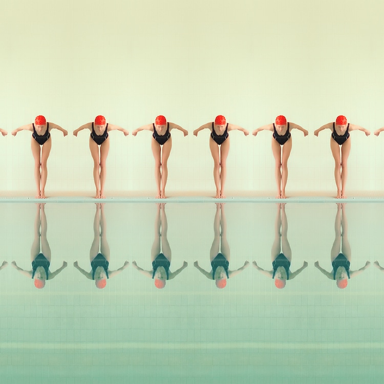 Swimmers Synchronized Swimming Swimmer Portraits Maria Svarbova