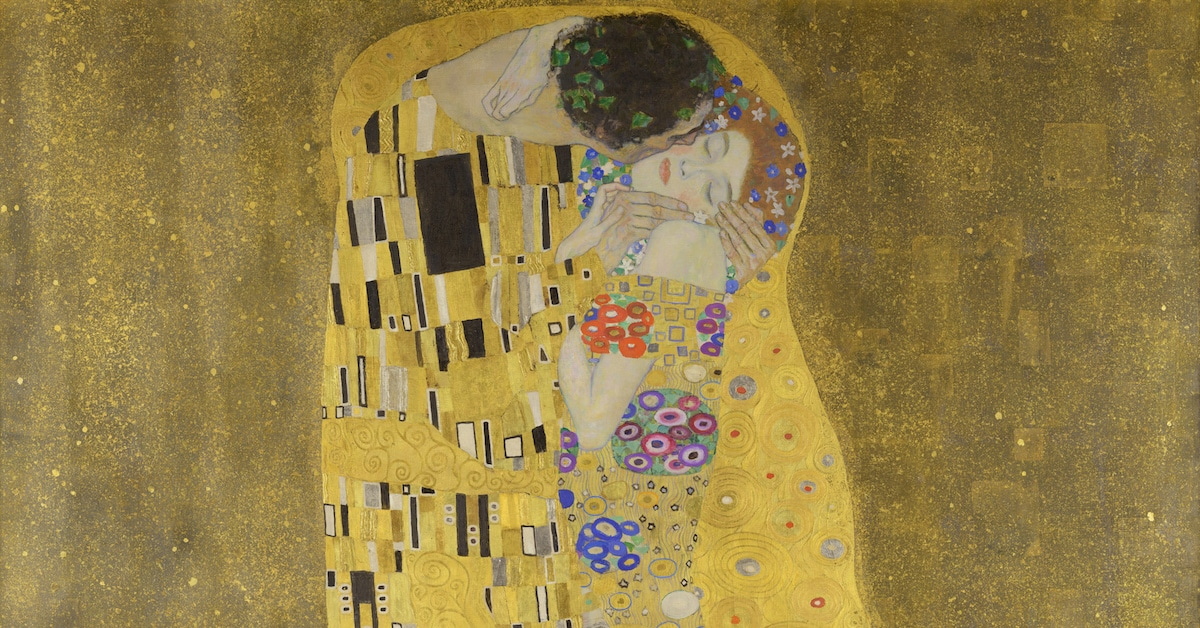 the story behind gustav klimts symbolist painting the kiss