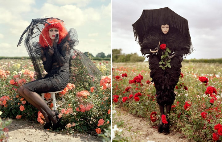tim burton fashion editorial