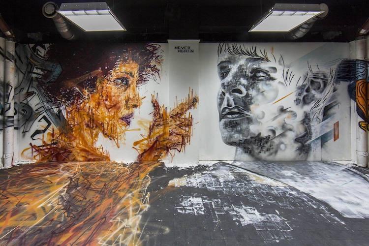 Artistas del graffiti parís