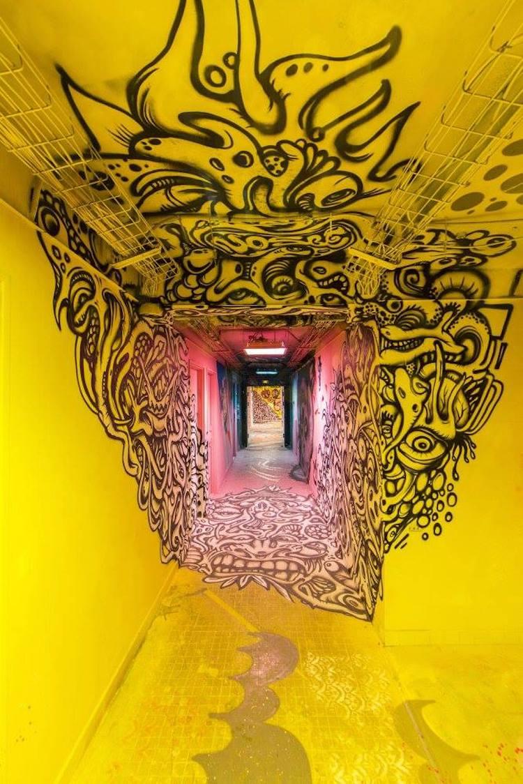 Artistas del graffiti en parís