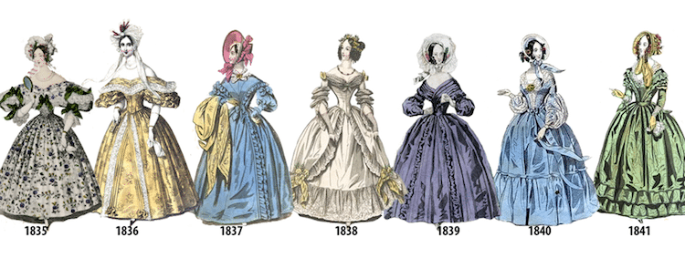 Women 39 s fashion history outlined in illustrated timeline for History of fashion designers