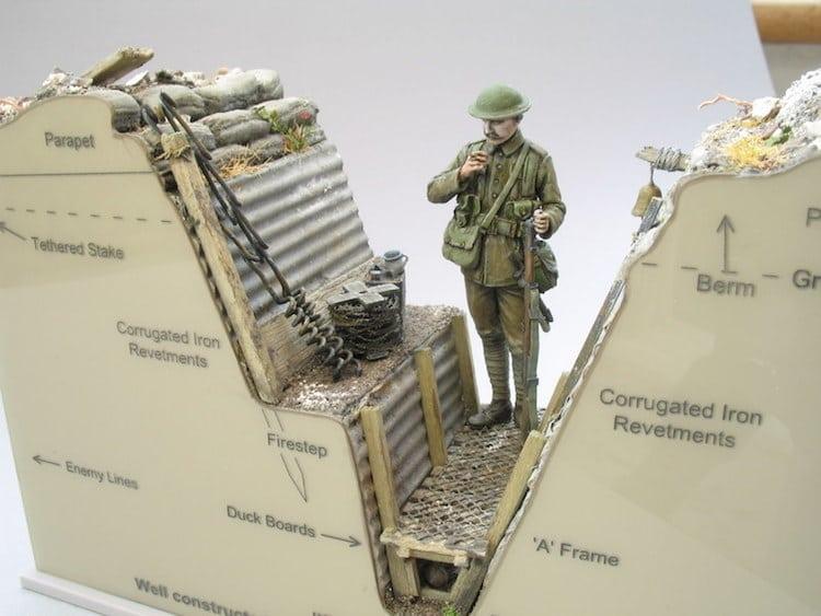 world war i military models trench