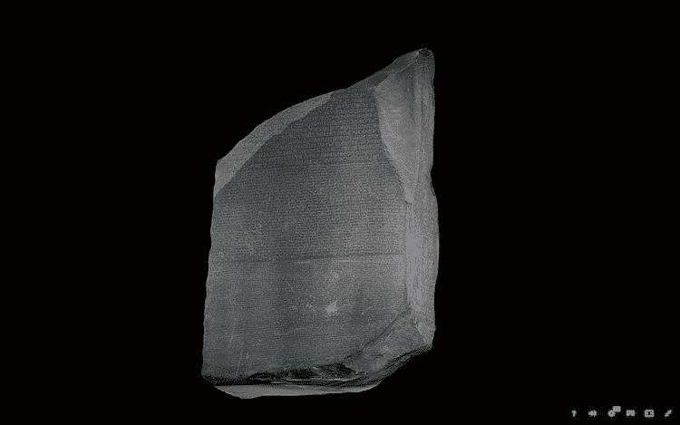 3D Rosetta Stone british museum