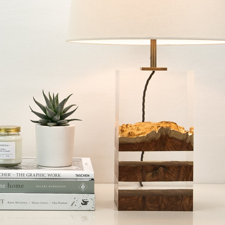 Modern Wood Lamps Encapsulate The Dramatic Beauty Of The