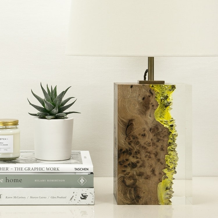 Modern Wood Lamp by Iluka London