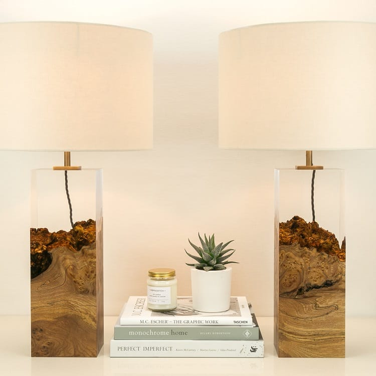 Modern Wood Lamps by Iluka London