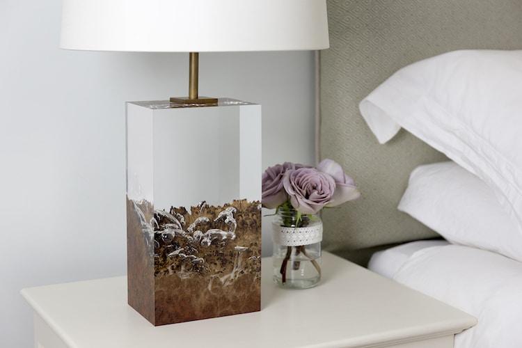 Modern Wood Lamps by Iluka London