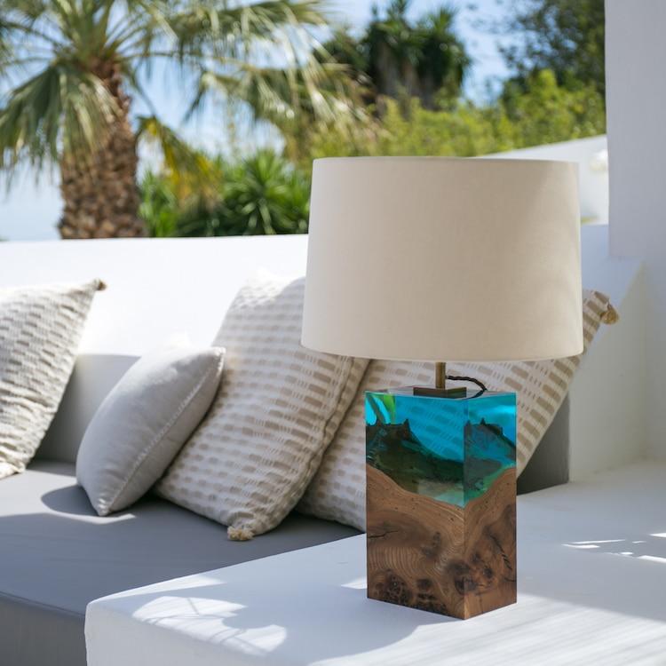 Modern Wood Lamp by Iluka London
