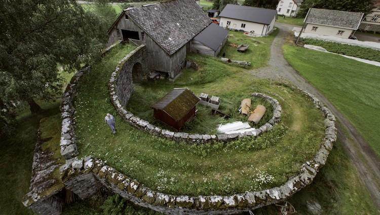 cool barn design in valldal norway