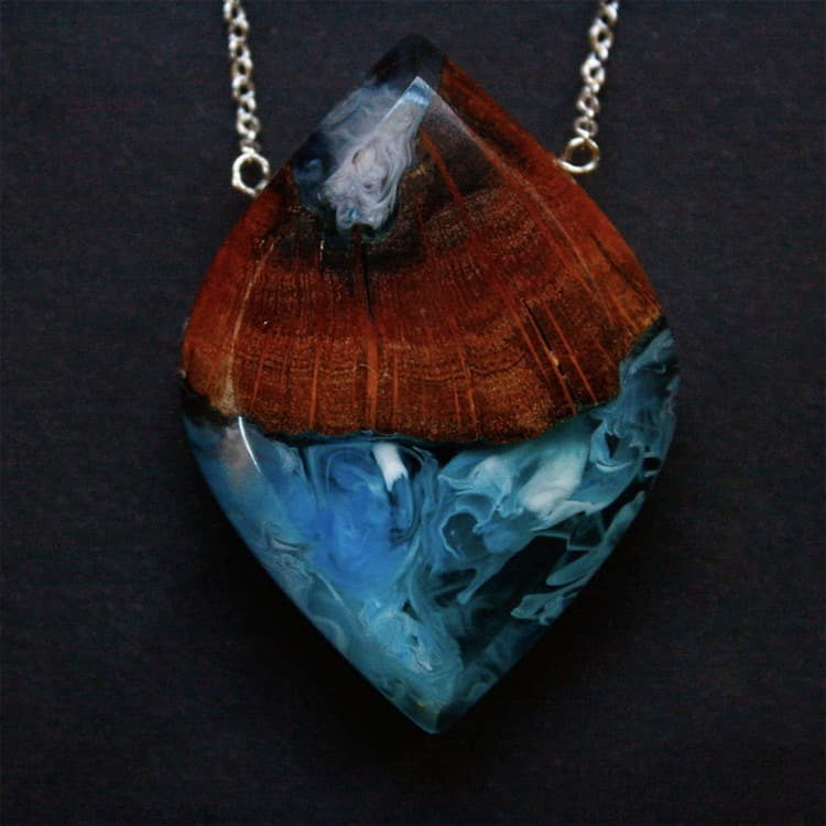 Wood and Resin Necklaces