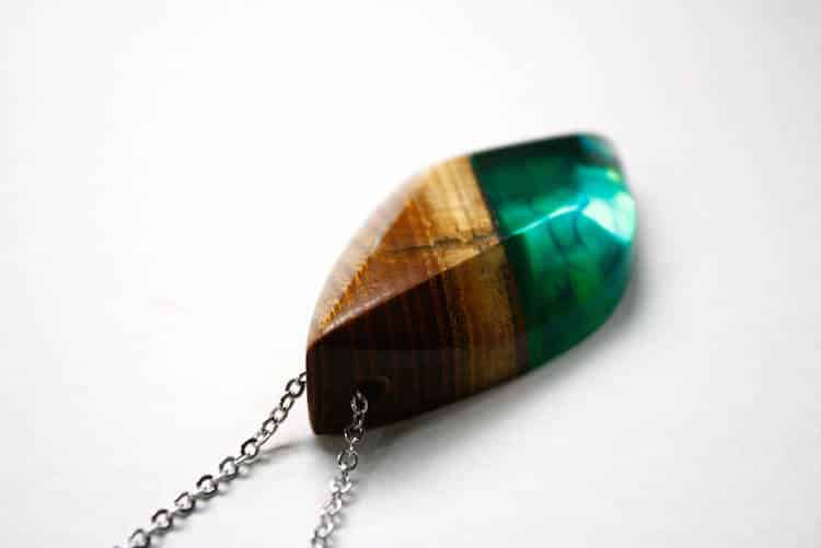Resin and Wood Jewelry by BoldB