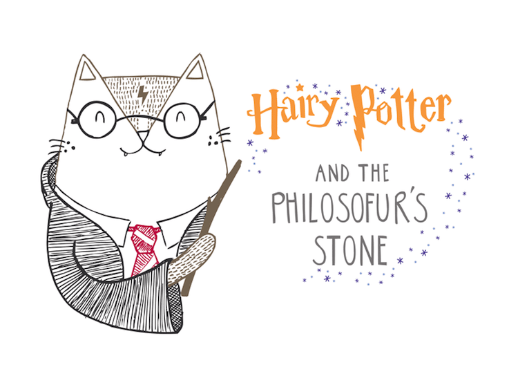 Cat Illustrations Cat Puns Cat Art Harry Potter Cat