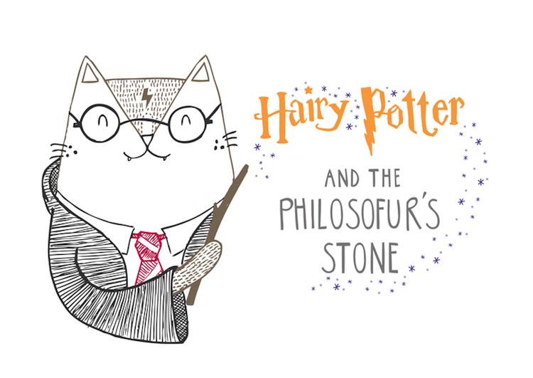 Cat Illustrations Cat Puns Cat Art Harry Potter Cat