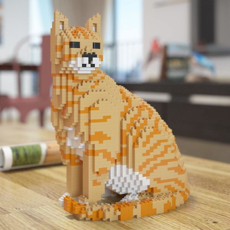 Cat LEGO Sculpture Cats in Art History