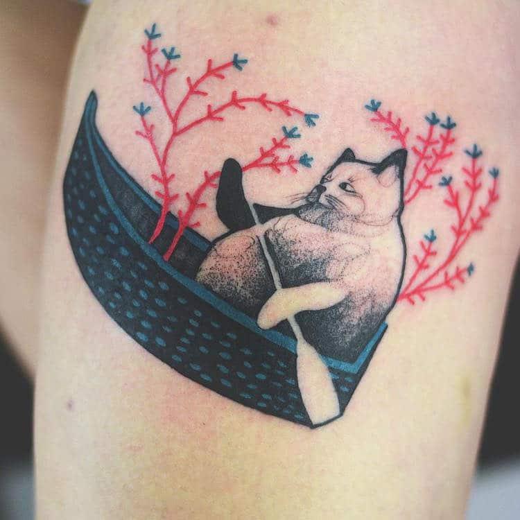 Cat Tattoos Contemporary Art History