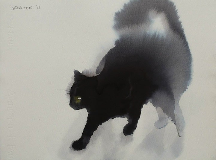 Cat Watercolor Painting