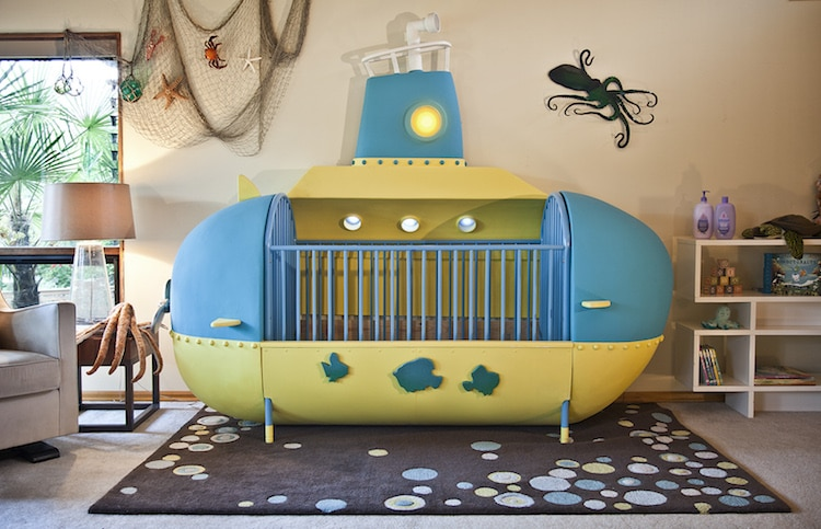 Diy Baby Crib Shaped Like A Submarine Takes Kids Under The Sea
