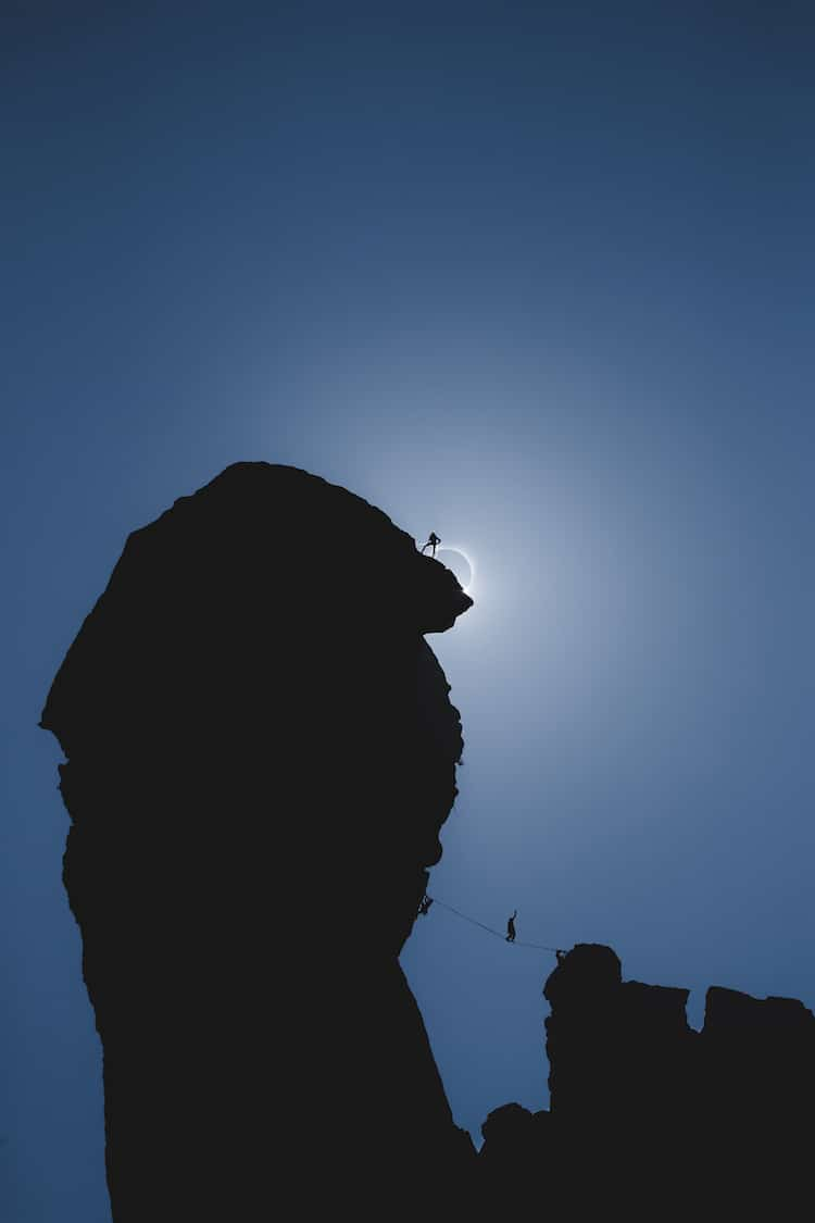 Total Eclipse Mountain Climber
