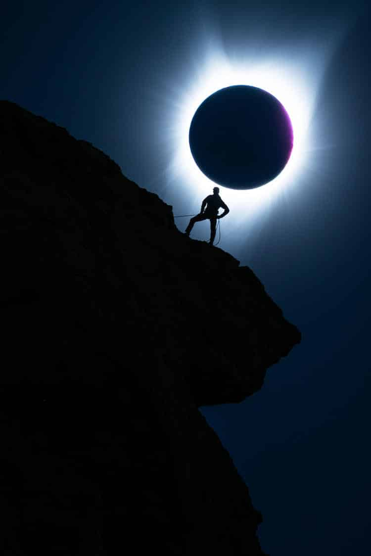Total Eclipse Mountain Climber