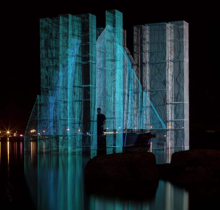 Ghostly Wire Art Installation by Edoardo Tresoldi in Sapri