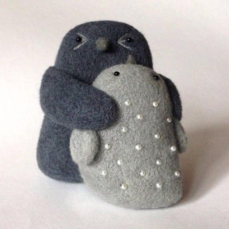 Felt Sculpture Perfect Match Woolsculpture Hanna Dovhan