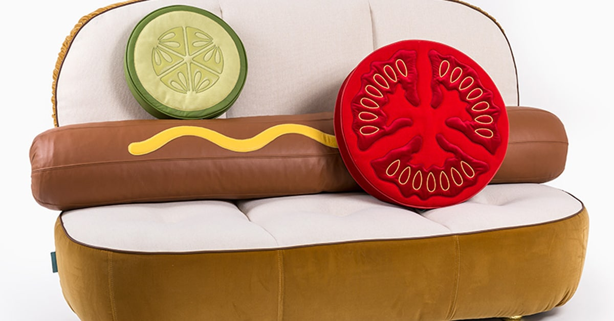 quirky furniture design imagines seating as hot dog and. Black Bedroom Furniture Sets. Home Design Ideas