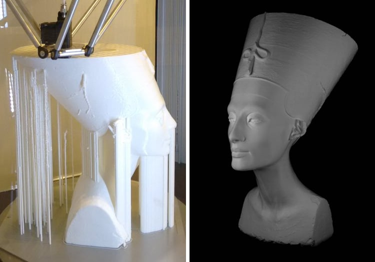 Free 3D Scans Famous Art Sculptures and Statues Scan the World Nefertiti