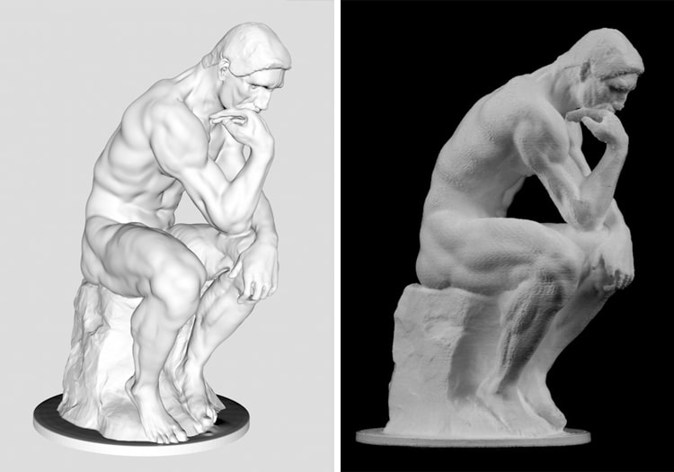 Free 3D Scans Famous Art Sculptures and Statues Scan the World The Thinker