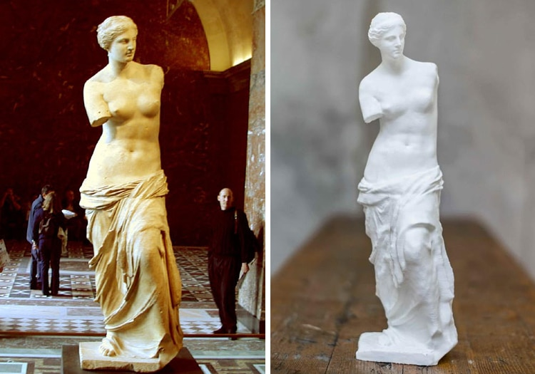 Free 3D Scans Famous Art Sculptures and Statues Scan the World Venus de Milo