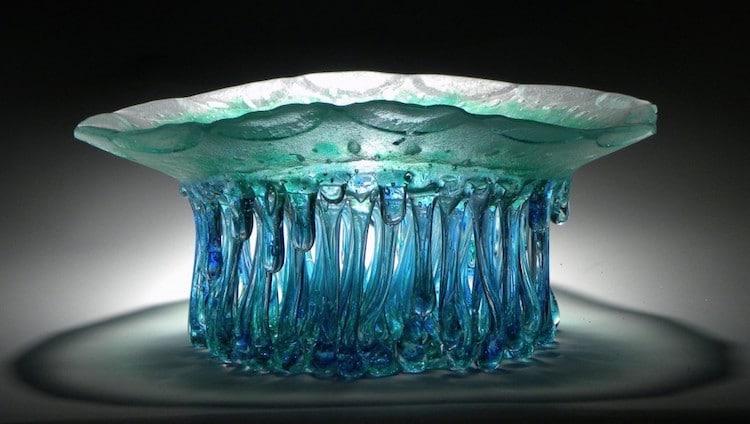 Glass Jellyfish Table Glass Sculpture Daniela Forti