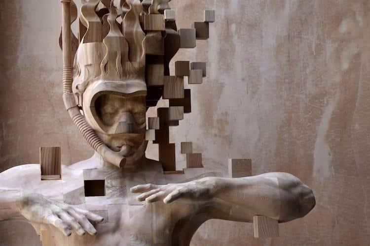 Hsu Tung Han contemporary Wood Sculpture