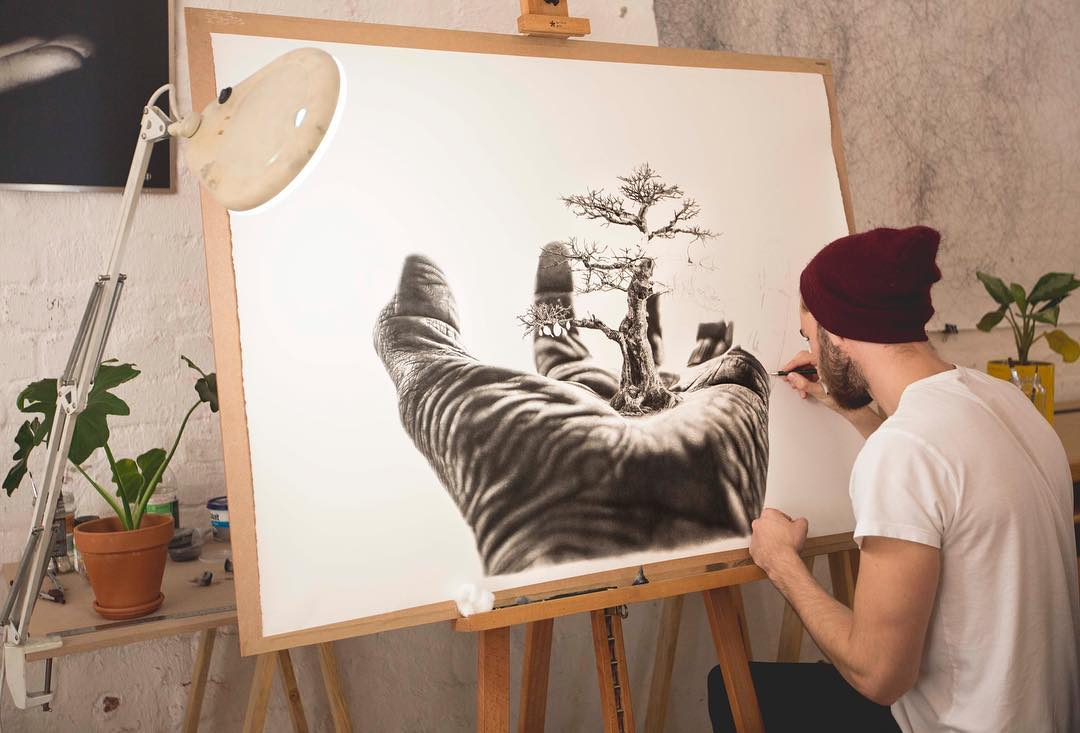 Hyperrealism Drawing by Jono Dry