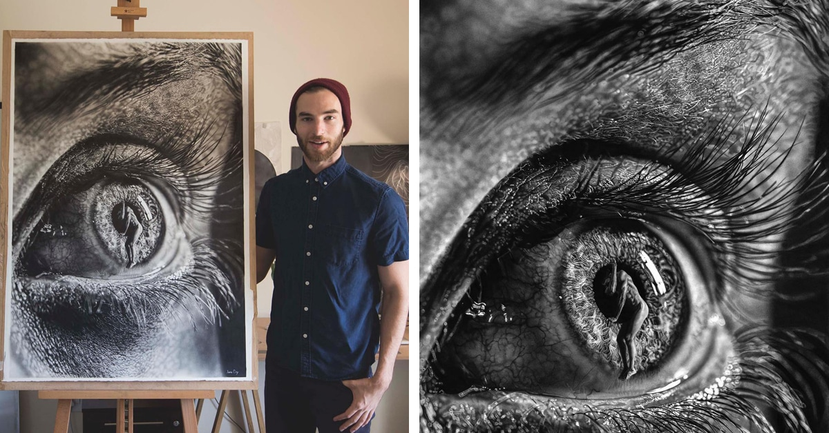 Modern Line Drawing Artists : Dramatic hyperrealism drawing infused with surrealism by