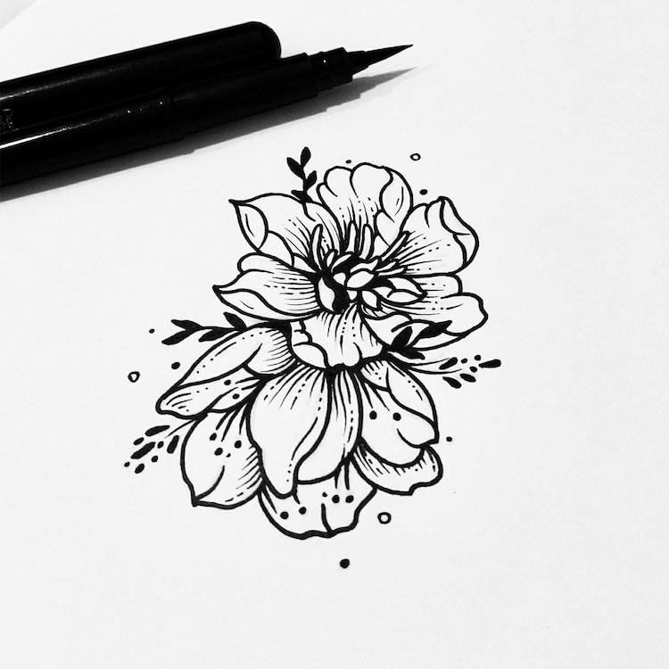 Illustrative Tattoos Sollefe Black Ink Tattoo