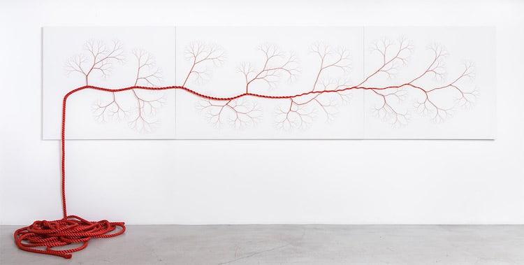 Rope Art Tree Installation Ciclotrama Series Janaina Mello Landini