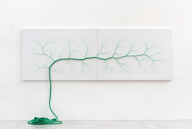 Rope Art Tree Installation Ciclotrama Series Janaina Mello Landini