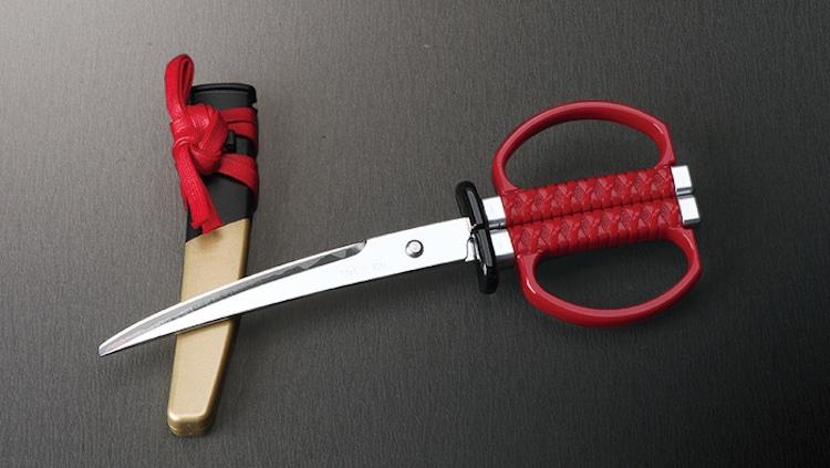 Custom Katana Blade Reimainged as a Pair of Scissors