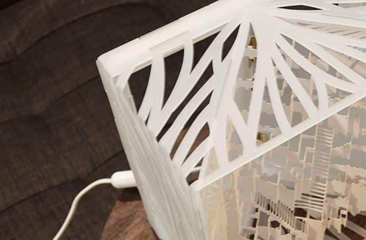 Man Spends 3 Years Turning Complex 3d Kirigami Into Paper Lamp