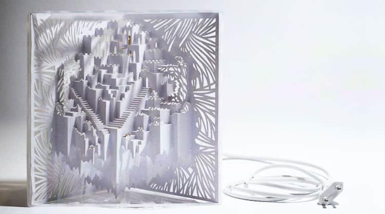 Laser Cut Paper Lamp