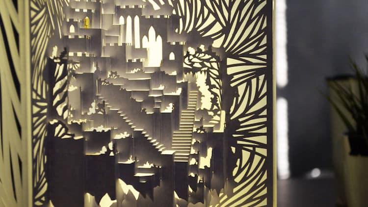 3D Kirigami Paper Lamp