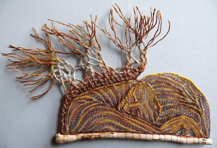 Lace and Wood Art by Ágnes Herczeg