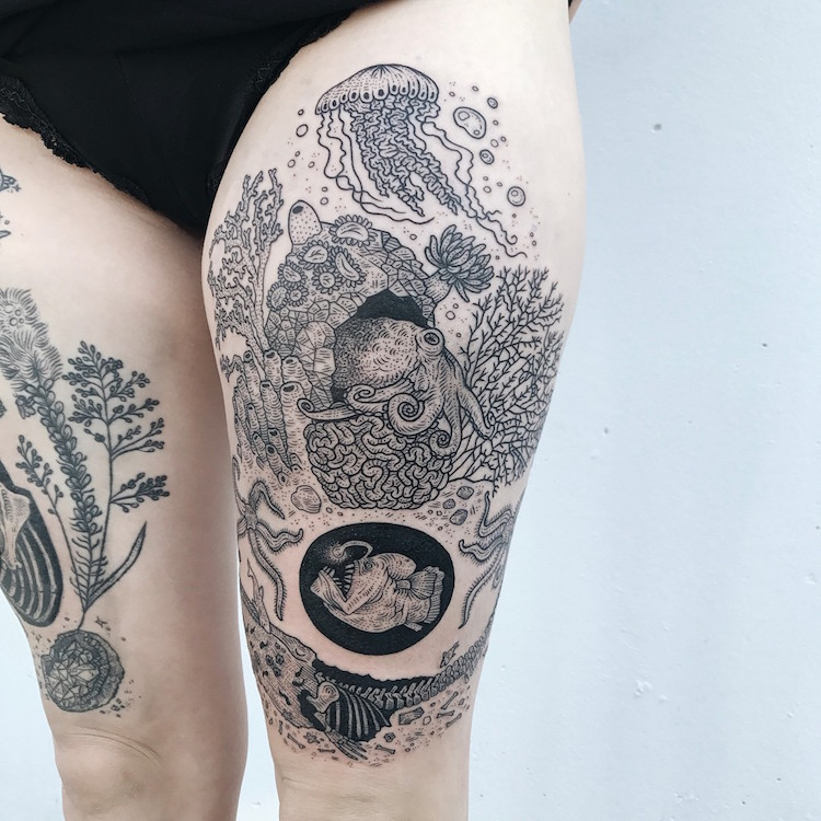 Large-Scale Tattoos Nature Tattoo Pony Reinhardt Tenderfoot Studio