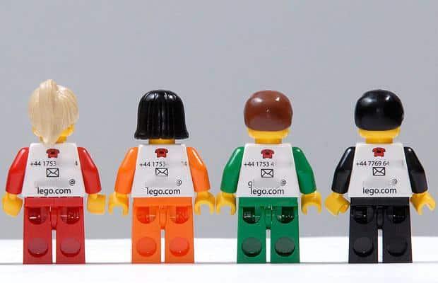 Tarjetas de presentación de LEGO
