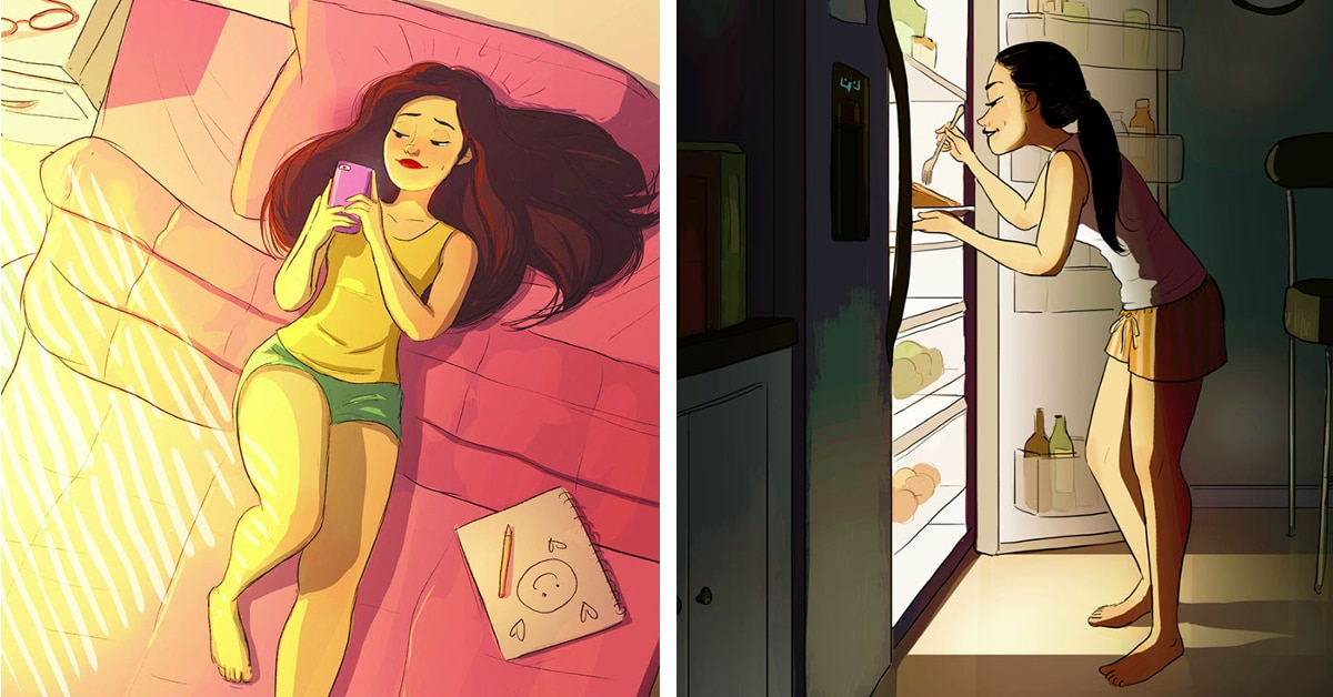 Benefits of Living Alone Showcased in Charming Illustrations