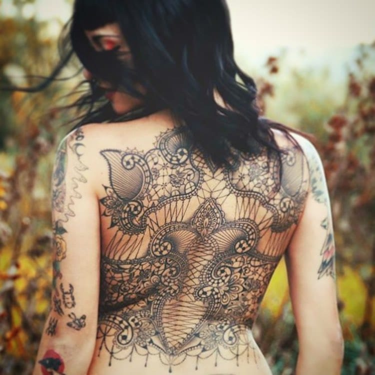 Lace Tattoo Designs by Marco Manzo