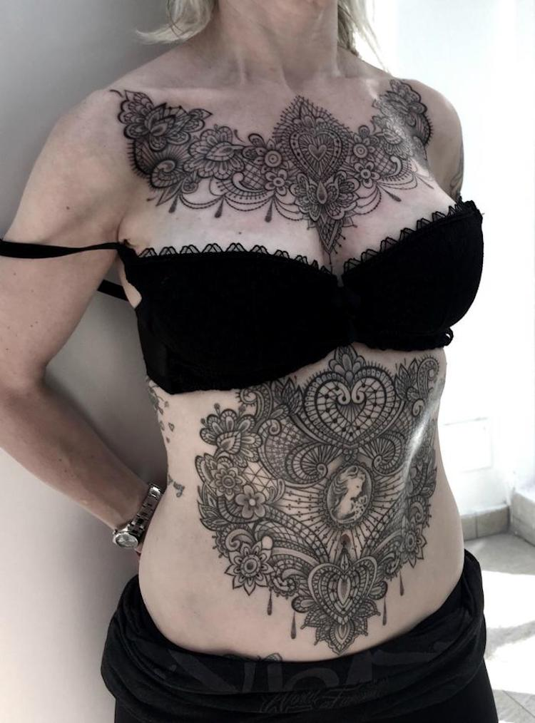 Victorian Lace Tattoo